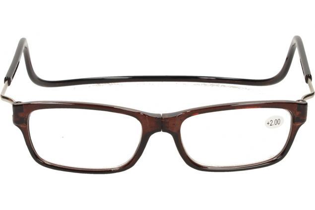 Foto 2 - Dioptrické brýle s magnetem hnědé +2,00