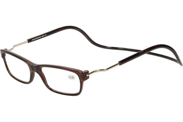 Foto 3 - Dioptrické brýle s magnetem hnědé +2,00
