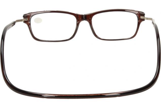 Foto 5 - Dioptrické brýle s magnetem hnědé +2,00