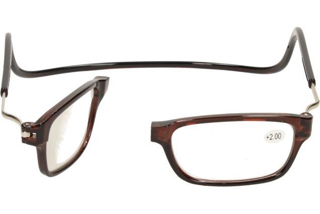 Foto 7 - Dioptrické brýle s magnetem hnědé +2,00