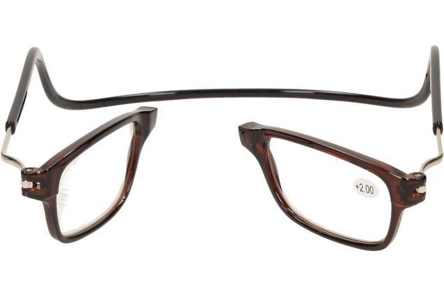 Foto 9 - Dioptrické brýle s magnetem hnědé +2,00