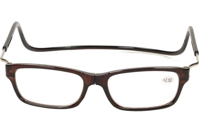 Foto 3 - Dioptrické brýle s magnetem hnědé +2,50