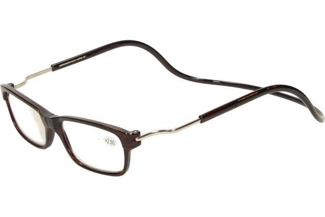 Foto 4 - Dioptrické brýle s magnetem hnědé +2,50