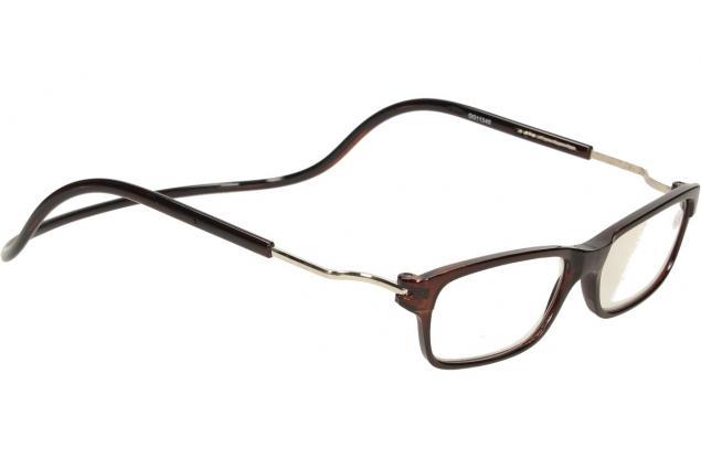 Foto 7 - Dioptrické brýle s magnetem hnědé +2,50
