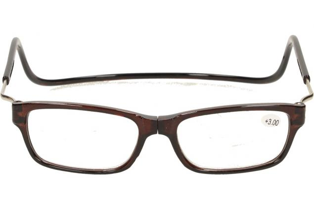 Foto 2 - Dioptrické brýle s magnetem hnědé +3,00