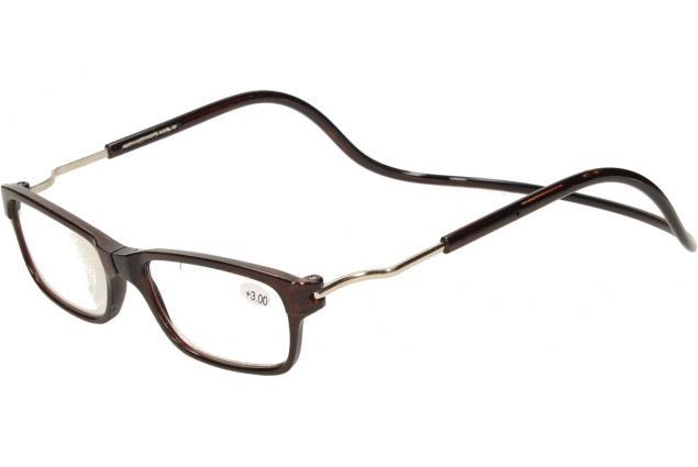 Foto 3 - Dioptrické brýle s magnetem hnědé +3,00