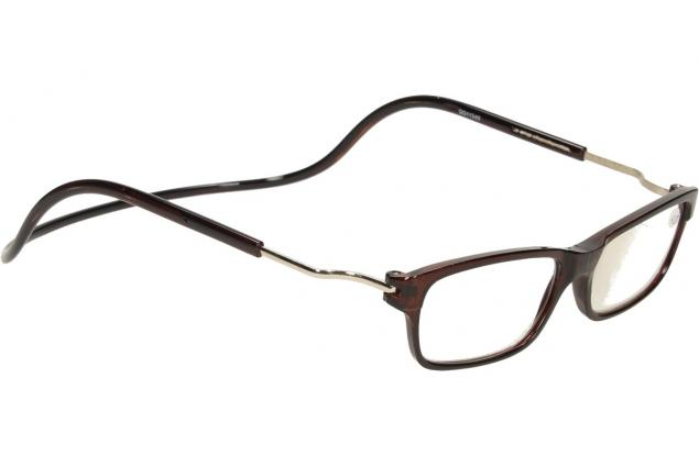 Foto 6 - Dioptrické brýle s magnetem hnědé +3,00