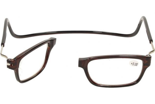 Foto 7 - Dioptrické brýle s magnetem hnědé +3,00