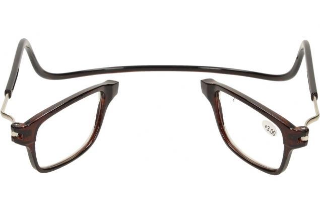 Foto 9 - Dioptrické brýle s magnetem hnědé +3,00