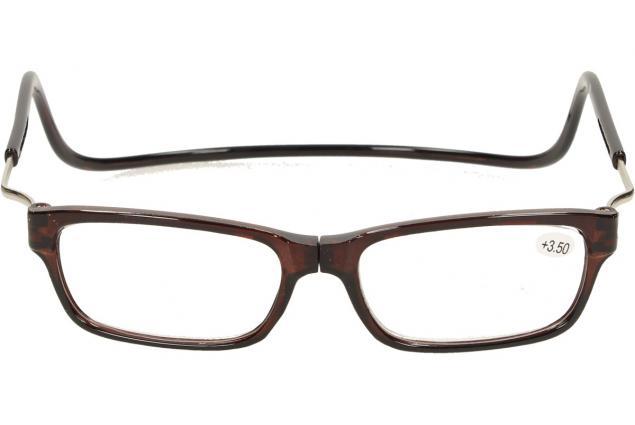 Foto 2 - Dioptrické brýle s magnetem hnědé +3,50