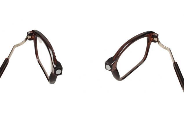Foto 8 - Dioptrické brýle s magnetem hnědé +3,50