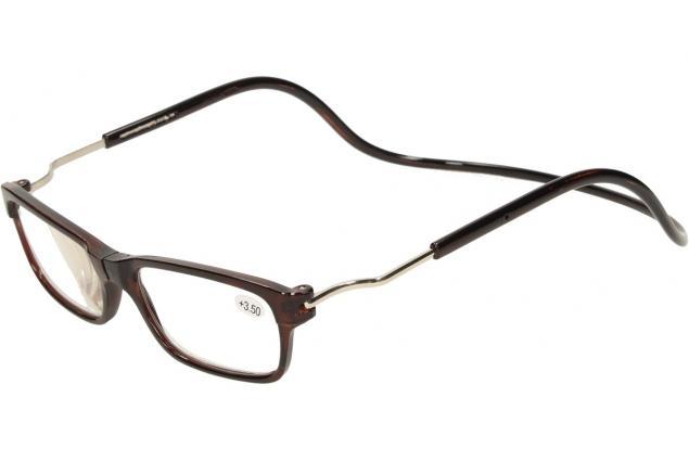Foto 3 - Dioptrické brýle s magnetem hnědé +3,50