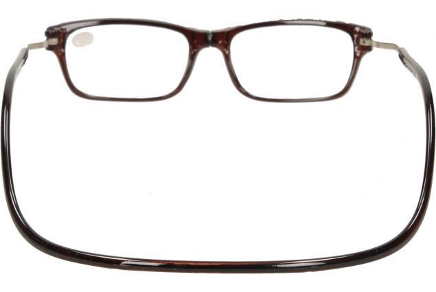 Foto 5 - Dioptrické brýle s magnetem hnědé +3,50