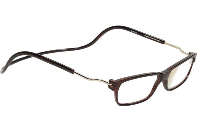 Foto 6 - Dioptrické brýle s magnetem hnědé +3,50