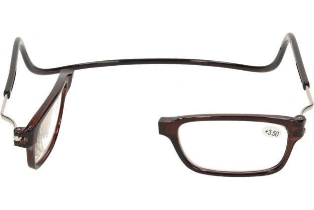 Foto 7 - Dioptrické brýle s magnetem hnědé +3,50