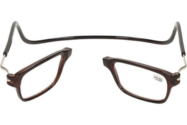 Foto 9 - Dioptrické brýle s magnetem hnědé +3,50