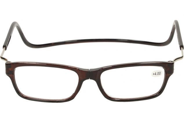 Foto 2 - Dioptrické brýle s magnetem hnědé +4,00
