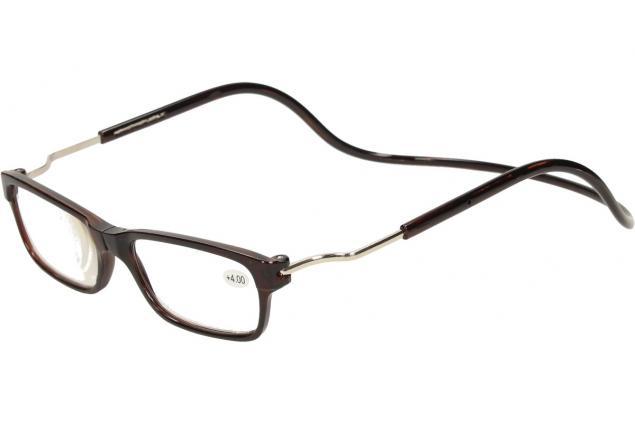 Foto 3 - Dioptrické brýle s magnetem hnědé +4,00
