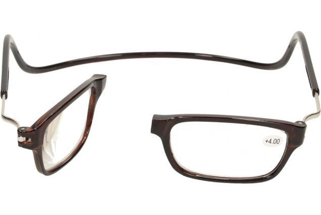 Foto 7 - Dioptrické brýle s magnetem hnědé +4,00