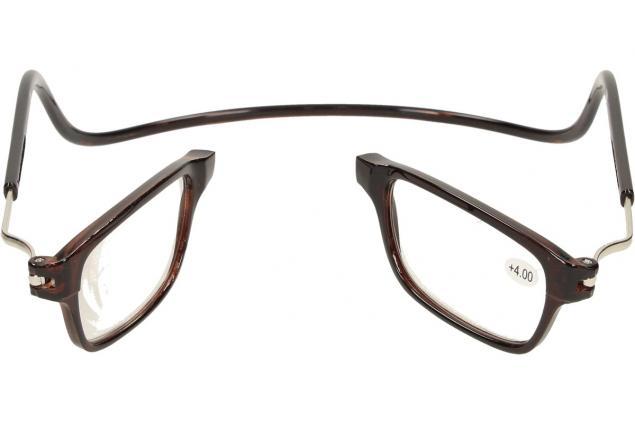 Foto 9 - Dioptrické brýle s magnetem hnědé +4,00