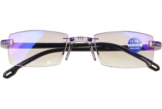 Foto 2 - Dioptrické brýle s antireflexní vrstvou černé +2,50