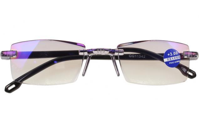 Foto 2 - Dioptrické brýle s antireflexní vrstvou černé +3,00