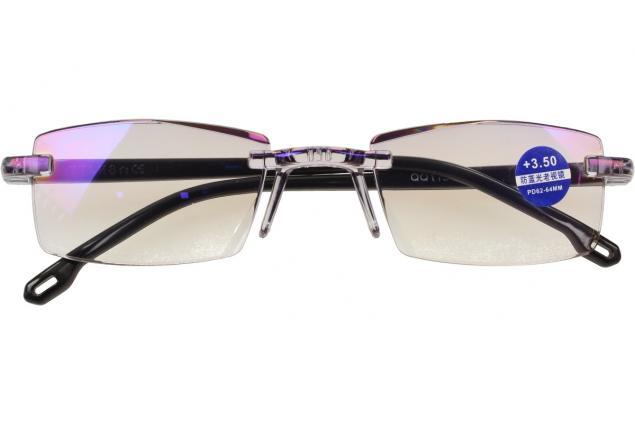 Foto 2 - Dioptrické brýle s antireflexní vrstvou černé +3,50