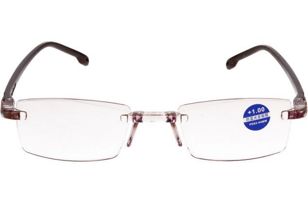 Foto 3 - Dioptrické brýle s antireflexní vrstvou hnědé +1,00