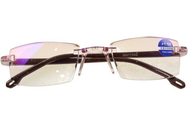 Foto 2 - Dioptrické brýle s antireflexní vrstvou hnědé +1,50