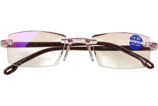 Foto 2 - Dioptrické brýle s antireflexní vrstvou hnědé +2,50