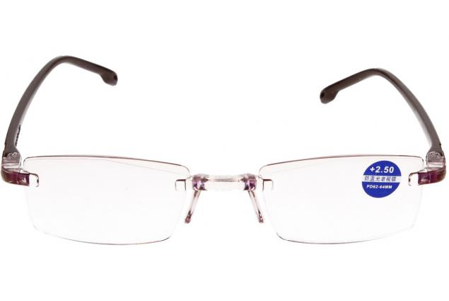 Foto 3 - Dioptrické brýle s antireflexní vrstvou hnědé +2,50
