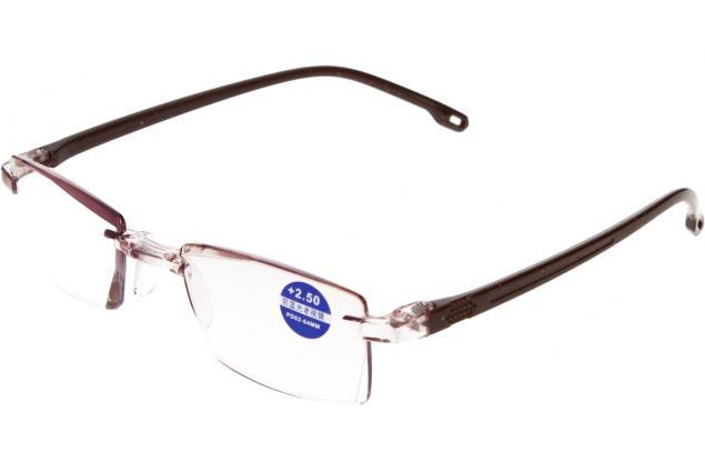 Foto 4 - Dioptrické brýle s antireflexní vrstvou hnědé +2,50