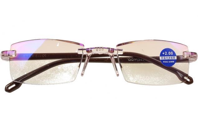 Foto 2 - Dioptrické brýle s antireflexní vrstvou hnědé +2,00