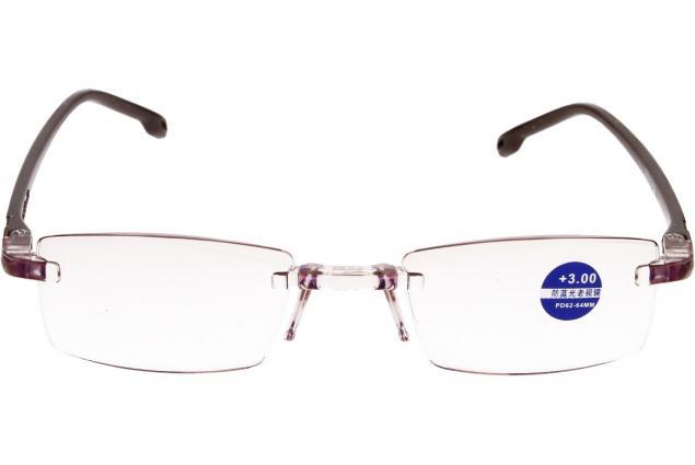 Foto 3 - Dioptrické brýle s antireflexní vrstvou hnědé +3,00