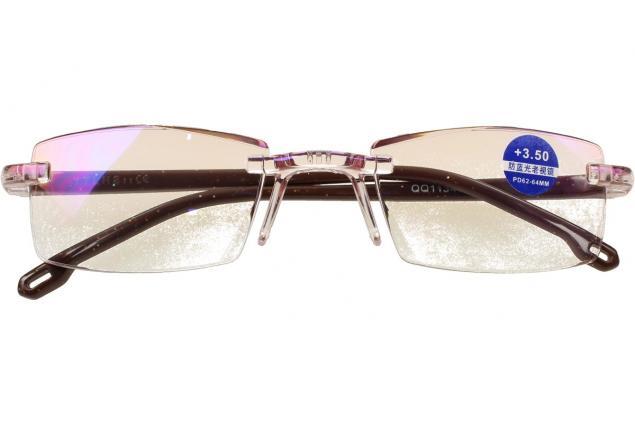Foto 2 - Dioptrické brýle s antireflexní vrstvou hnědé +3,50