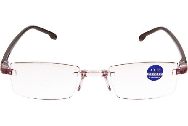 Foto 3 - Dioptrické brýle s antireflexní vrstvou hnědé +3,50