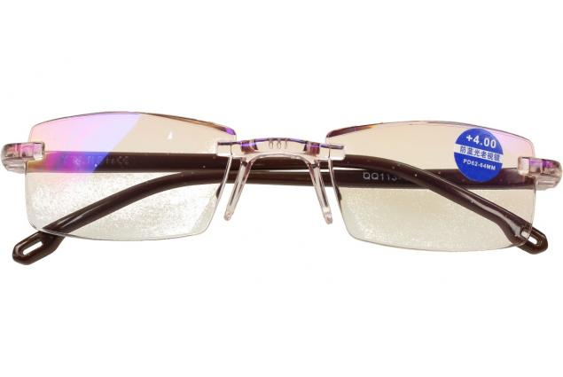 Foto 2 - Dioptrické brýle s antireflexní vrstvou hnědé +4,00
