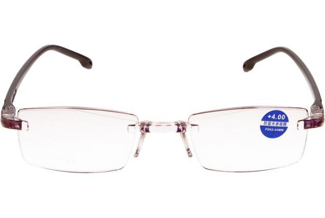 Foto 3 - Dioptrické brýle s antireflexní vrstvou hnědé +4,00