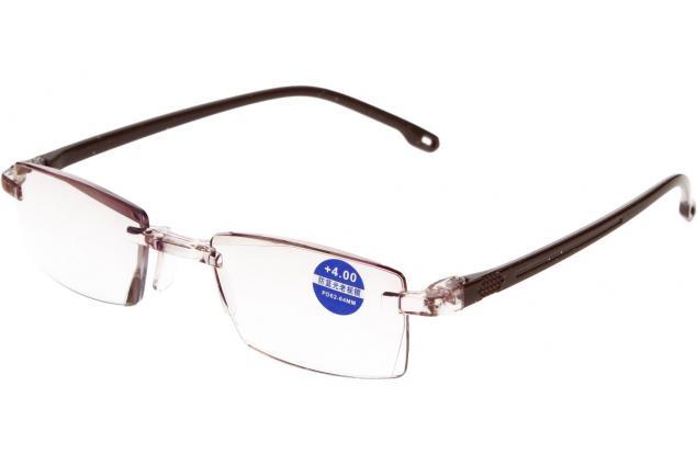 Foto 4 - Dioptrické brýle s antireflexní vrstvou hnědé +4,00