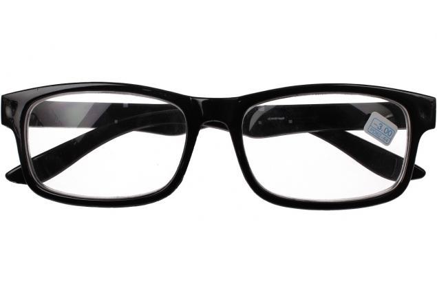 Foto 2 - Dioptrické brýle pro krátkozrakost -3,00 černé