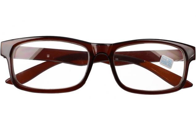 Foto 2 - Dioptrické brýle pro krátkozrakost -1,00 hnědé
