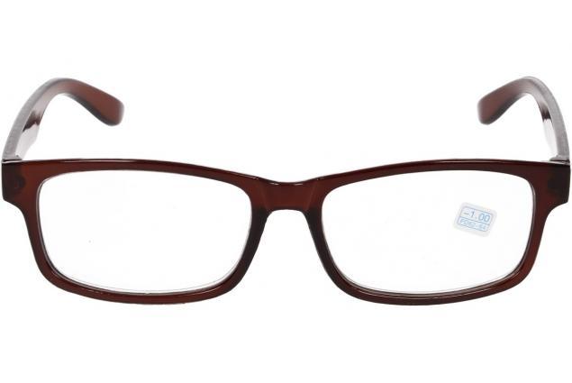 Foto 3 - Dioptrické brýle pro krátkozrakost -1,00 hnědé