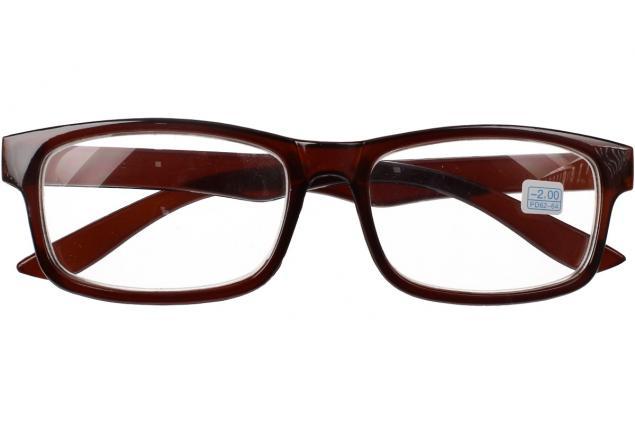 Foto 2 - Dioptrické brýle pro krátkozrakost -2,00 hnědé