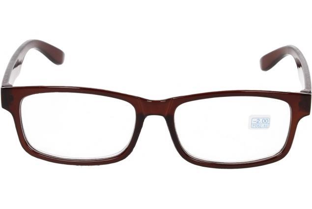 Foto 3 - Dioptrické brýle pro krátkozrakost -2,00 hnědé
