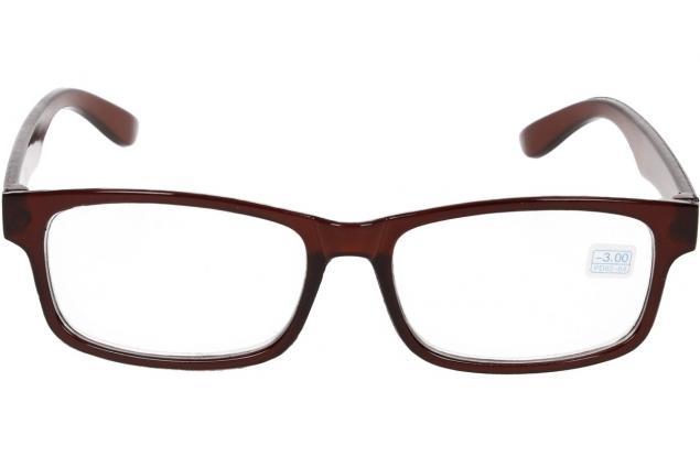 Foto 3 - Dioptrické brýle pro krátkozrakost -3,00 hnědé