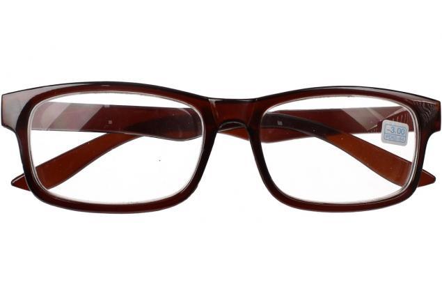 Foto 2 - Dioptrické brýle pro krátkozrakost -3,00 hnědé