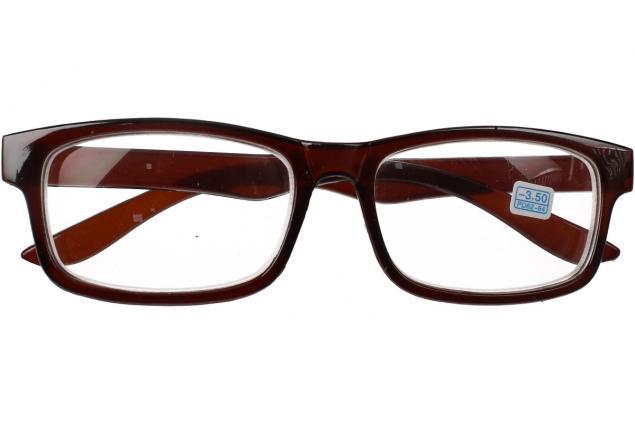 Foto 2 - Dioptrické brýle pro krátkozrakost -3,50 hnědé