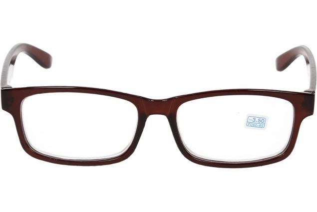 Foto 3 - Dioptrické brýle pro krátkozrakost -3,50 hnědé
