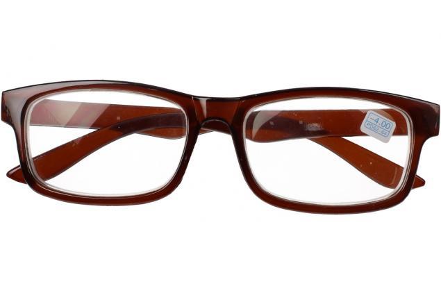 Foto 2 - Dioptrické brýle pro krátkozrakost -4,00 hnědé