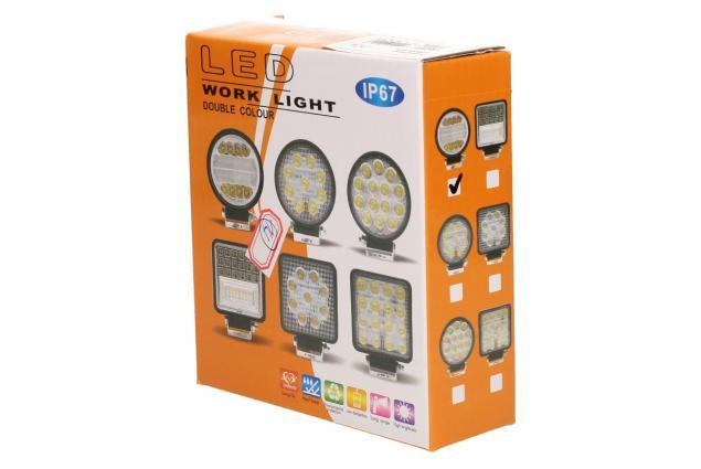 Foto 7 - LED pracovní světlo 24W double colour kulaté